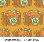 retro photo camera  vintage... | Shutterstock .eps vector #171841937