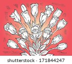 bunch of roses grouped together ... | Shutterstock .eps vector #171844247