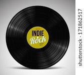 indie rock vinyl record | Shutterstock .eps vector #171862517
