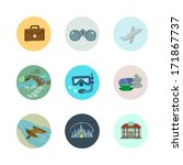 vector travel icons set. part 1.