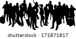 vector silhouettes of... | Shutterstock .eps vector #171871817