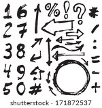 hand drawn figures elements... | Shutterstock .eps vector #171872537
