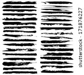 vector set of grunge brush... | Shutterstock .eps vector #171876227
