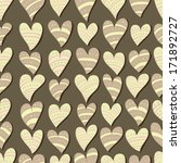 seamless pattern with hearts | Shutterstock .eps vector #171892727