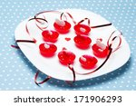 plate of valentine's day love...   Shutterstock . vector #171906293