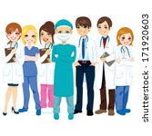 hospital medical team group... | Shutterstock .eps vector #171920603