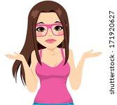 beautiful brunette woman with...   Shutterstock .eps vector #171920627