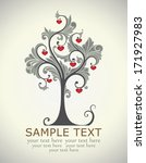 card  tree love | Shutterstock .eps vector #171927983