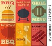 retro barbecue  posters... | Shutterstock .eps vector #171934943