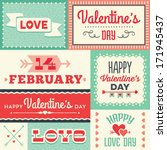 set of hipster valentine's day... | Shutterstock . vector #171945437