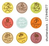 set of food graphic labels. can ... | Shutterstock .eps vector #171949877