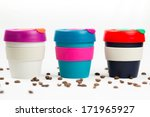 keep cup on white background... | Shutterstock . vector #171965927