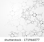 eps10  dna molecule  abstract... | Shutterstock .eps vector #171966077