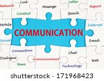 communication concept words on... | Shutterstock . vector #171968423