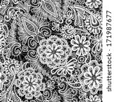 lace seamless pattern with... | Shutterstock . vector #171987677