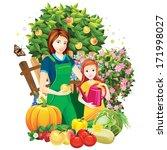 people in the garden   Shutterstock . vector #171998027