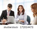 business people working in... | Shutterstock . vector #172014473