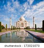 Taj Mahal On A Sunny Day With...