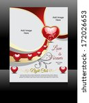 vector love flyer design | Shutterstock .eps vector #172026653