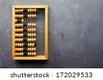 accounting abacus on gray... | Shutterstock . vector #172029533