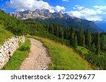 Wide Trail On Green Meadow ...