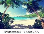 Beach Takamaka  Mahe Island ...