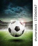 soccer ball on the field of... | Shutterstock . vector #172060067