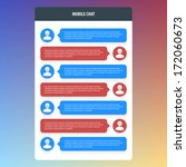 mobile chat. flat ui design....