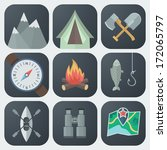 set of camping flat app icons... | Shutterstock .eps vector #172065797