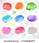 watercolor backgrounds. vector... | Shutterstock .eps vector #172068497