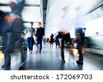 people rushing in the lobby.... | Shutterstock . vector #172069703