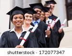 happy group of university... | Shutterstock . vector #172077347