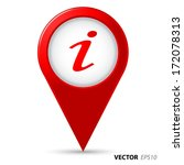 map pointer with information... | Shutterstock .eps vector #172078313