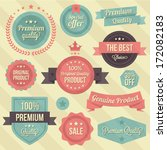 vector vintage badges and... | Shutterstock .eps vector #172082183