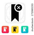 remove bookmark icon. vector...