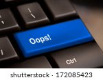 oops word on key showing fail... | Shutterstock . vector #172085423