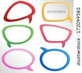 colorful 3d speech bubbles  ... | Shutterstock .eps vector #172099583
