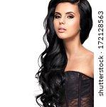 beautiful   young brunette... | Shutterstock . vector #172128563