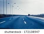 container truck on the cross... | Shutterstock . vector #172138547