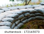 Sand Bag Bunker With Green...