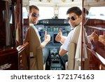 portrait of confident pilots...   Shutterstock . vector #172174163