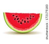 slice of watermelon in vector | Shutterstock .eps vector #172175183