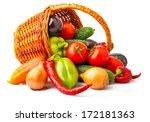 autumn fresh vegetables in...   Shutterstock . vector #172181363