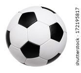 classic soccer ball on white... | Shutterstock . vector #172195817