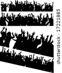 various audience silhouette... | Shutterstock . vector #17221885