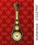 antique wall clock with a...   Shutterstock .eps vector #172237937