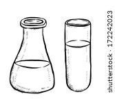 Science Flask Line Art 1344 as well Collectioncdwn Chemistry Beaker Clipart Black And White in addition Free Black And White Science Clipart 12881 likewise Erlenmeyer flask also Erlenmeyer. on erlenmeyer flask bubbling