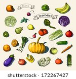 vector illustration of a set... | Shutterstock .eps vector #172267427