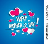 creative happy mother's day... | Shutterstock .eps vector #172267937