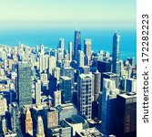 chicago aerial view | Shutterstock . vector #172282223